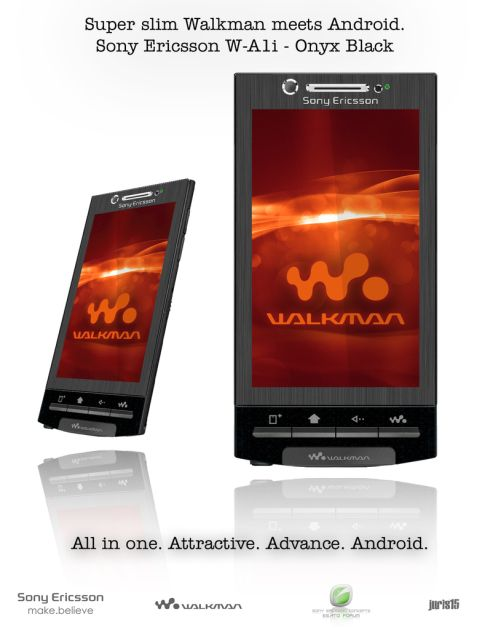 Juris15 Redesigns Sony Ericssons Walkman Handset: W A1i is the Result