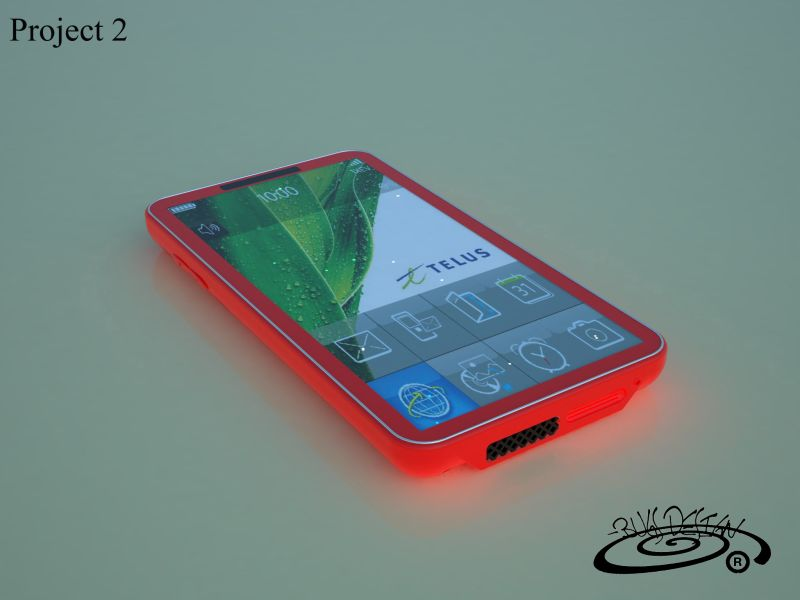 Telus Phone Design, Created by Luca Benedetti
