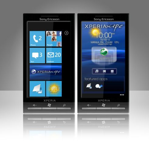 XPERIA Meets Windows Phone 7 Through the X1 X7 Concept