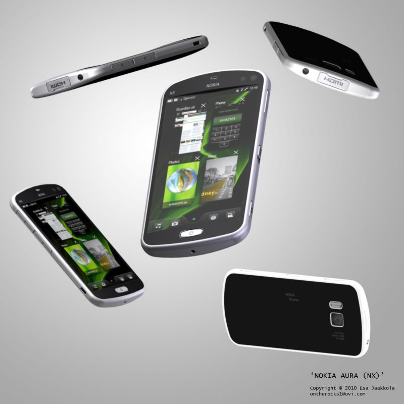 Nokia Aura MeeGo Concept Phone Is Simplistic and Beautiful