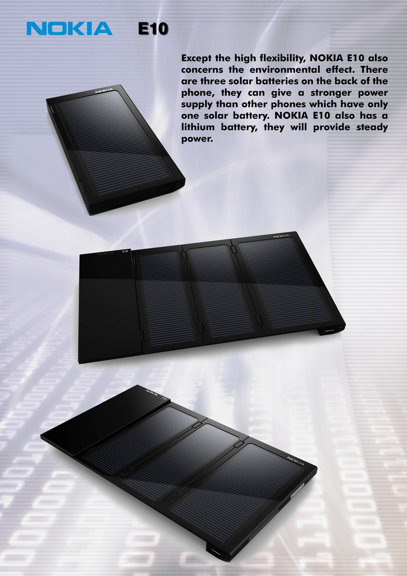 Nokia E10, a Foldable Phone With MeeGo and Solar Batteries