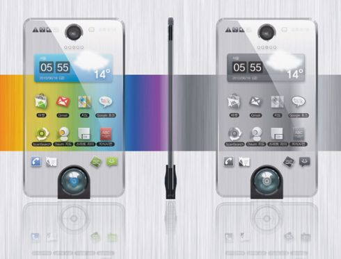 Transparent Phone Based on AMOLED and E Ink Technologies is Ideal for Forgetful Users