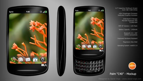 Palm C40 Mockup Comes With 4.3 Inch Touch Display, Snapdragon CPU, WiMAX