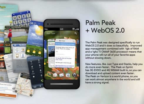 Palm Peak   Sprint 4G Design That Borrows from the iPhone