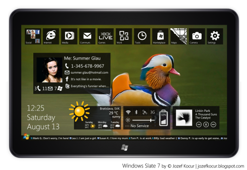 Windows Slate 7, a Windows Phone 7 Tablet or a Portable Gizmo With Windows 8?