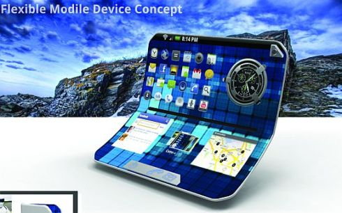 Conceptual Mobile Flexible Device Transforms Into a Tablet