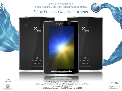 Sony Ericsson X Tab is the XPERIA Tablet