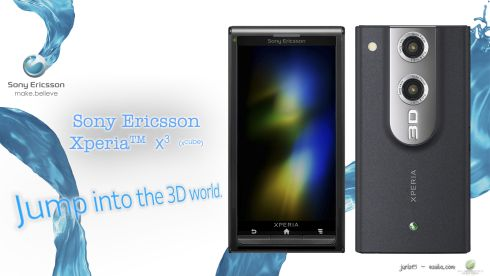 Sony Ericsson XPERIA X3 (X Cube) Supports 3D Video Capture