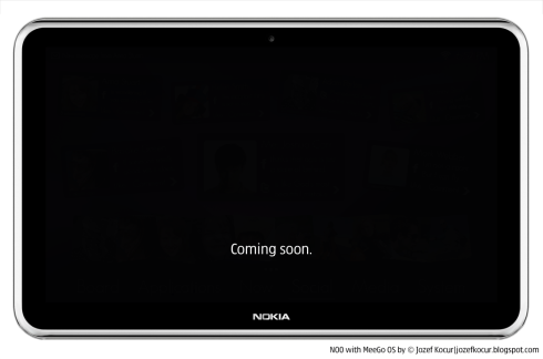Nokia Tablet Runs MeeGo With a Customized UI; Design Teased Here