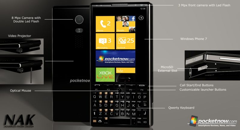 Pocketnow PN1, Dual Core Projector Phone With 4G Support