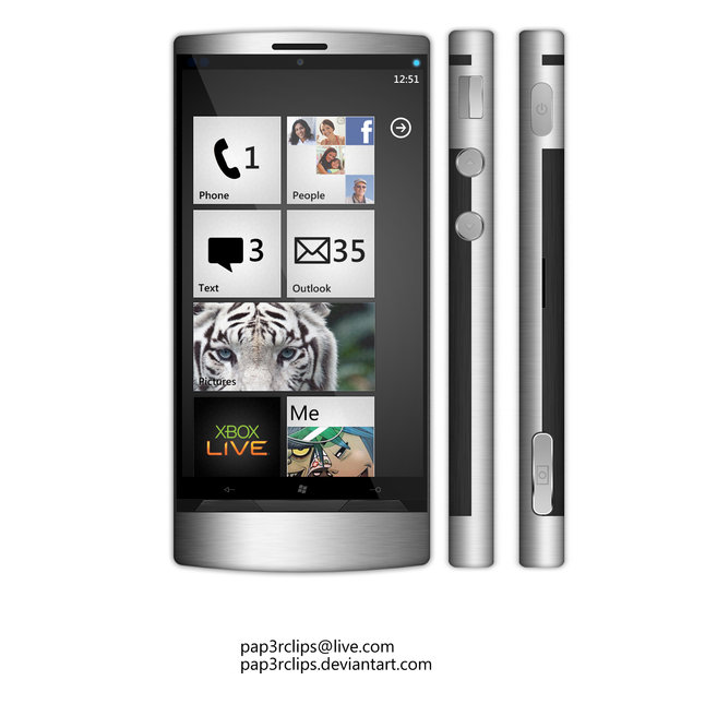 Windows Phone Flagship Concept is Metallic and Well Specced