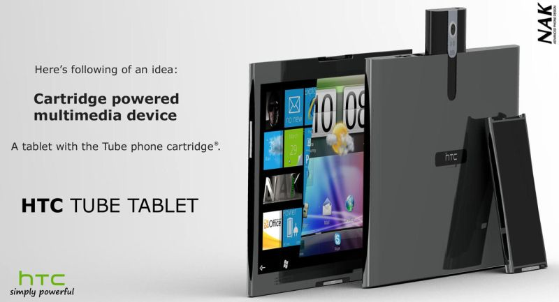 HTC Tube Tablet   Insert Your Smartphone Into the Tablet Cartridge