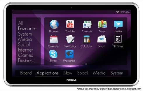 MeeGo OS Concept for Tablets Beats the Current State of the Platform