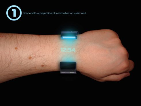 RollerPhone Concept - A Bracelet Phone