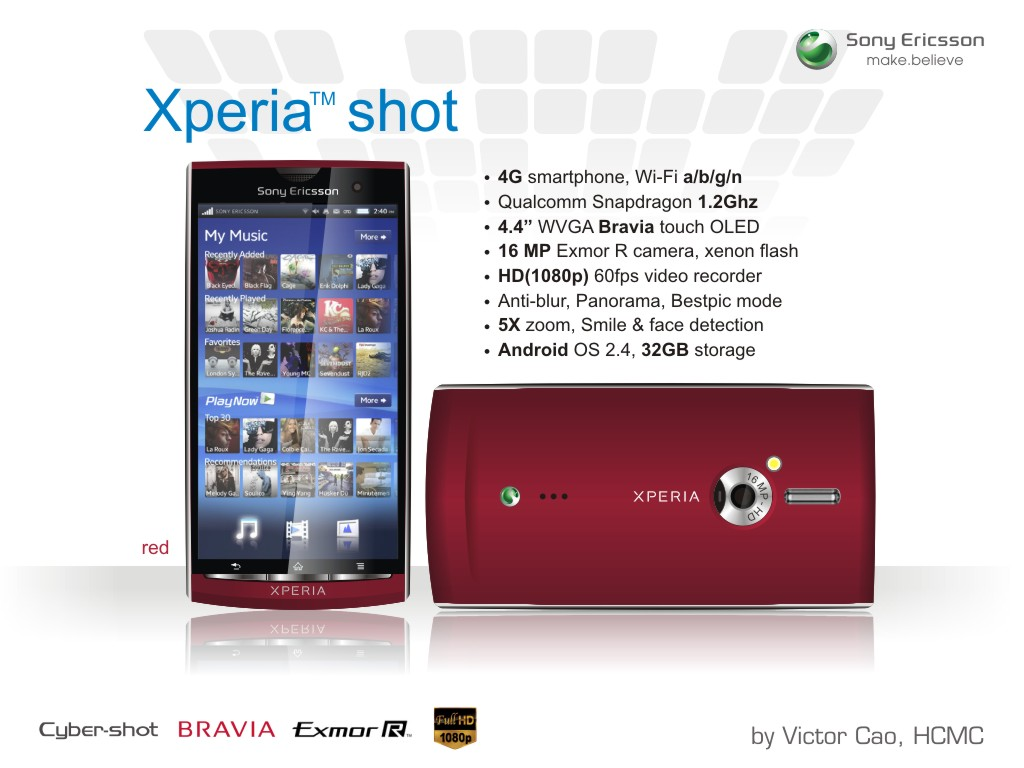 Xperia Shot is the Follow up to the Satio; Runs Android 2.4 and Uses BRAVIA Tech