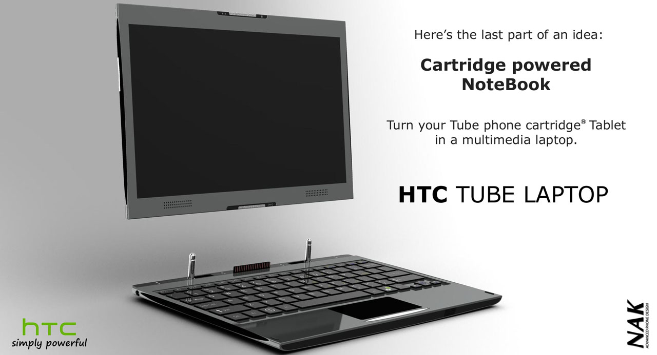 HTC Tube Concept is a Laptop, Tablet, Phone...