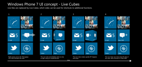 Windows Phone 7 Concept UI for Nokia Relies on Cubes, Looks Brilliant