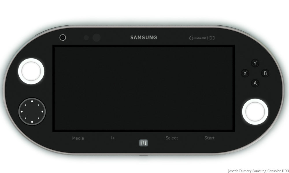 Samsung Consolor HD3 Portable Console Concept Uses 3D Galaxy Interface Navigation
