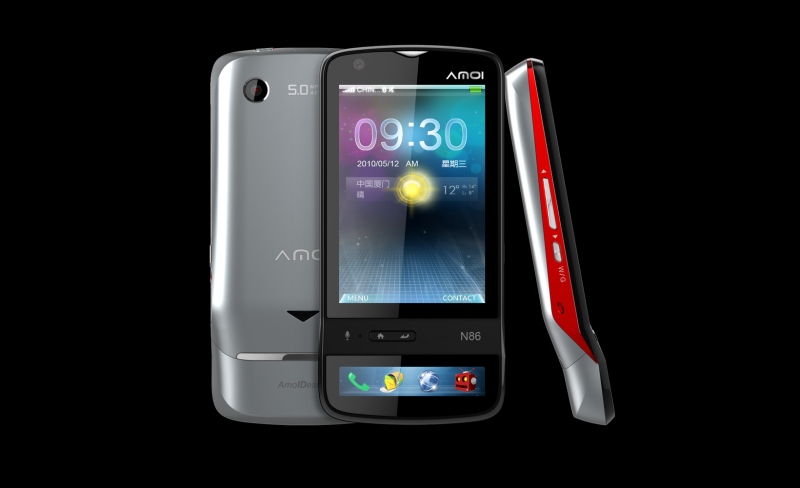 AMOI N86 High End 3G Uses a Dual Touchscreen