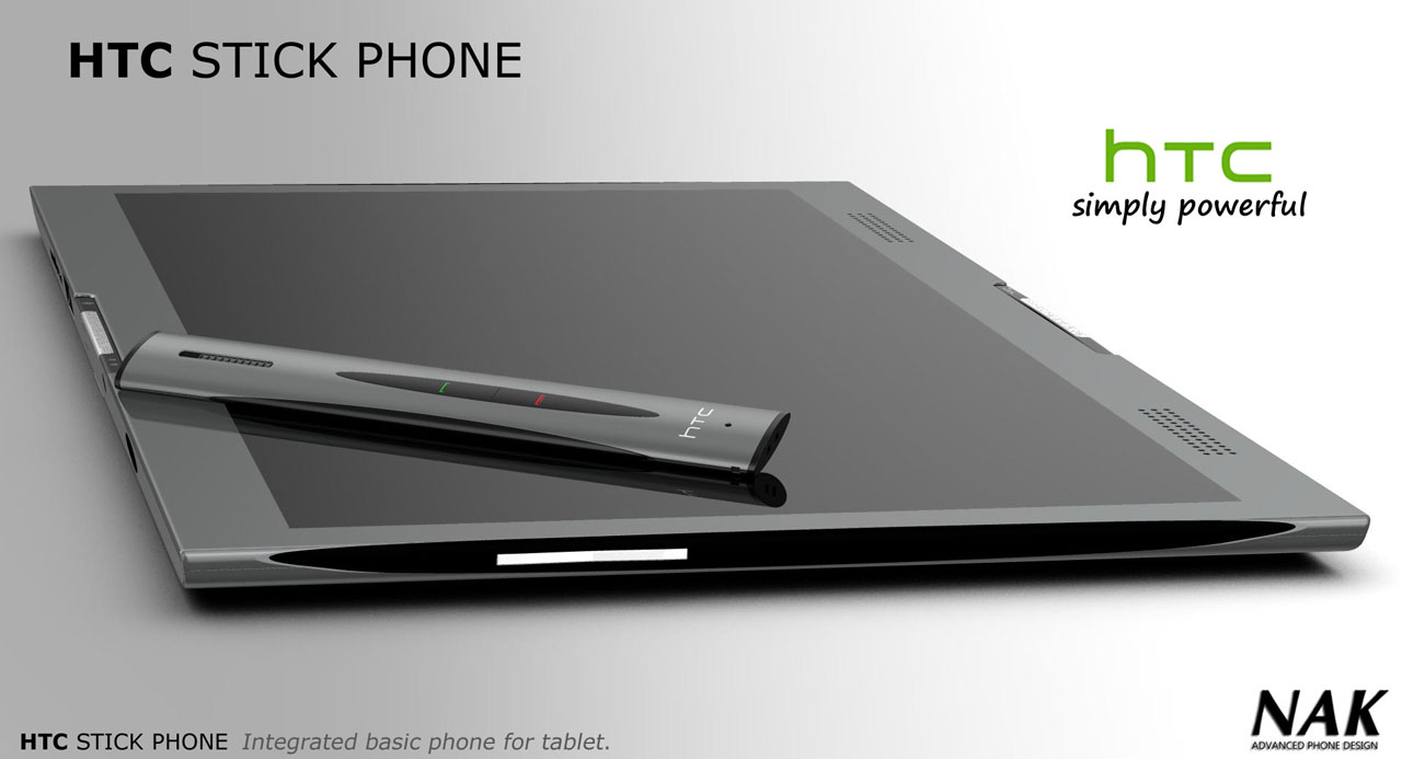 HTC Stick Phone Concept is the Answer Inside the HTC Tube Tablet