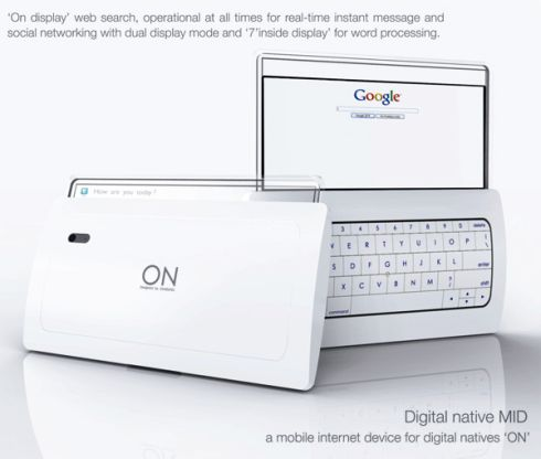 Dual Display MID Integrates Google, Social Networking