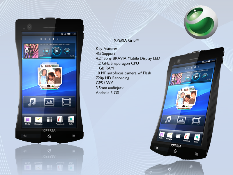Xperia Grip Phone Features Bravia LED Display, Android 3.0