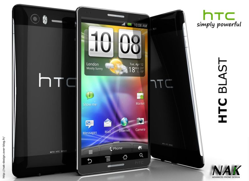 HTC Blast   New Design for Powerful Smartphone, That Runs Honeycomb With HTC Sense