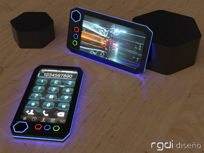 Tron Phone Concept, Based on the Movie With the Same Name
