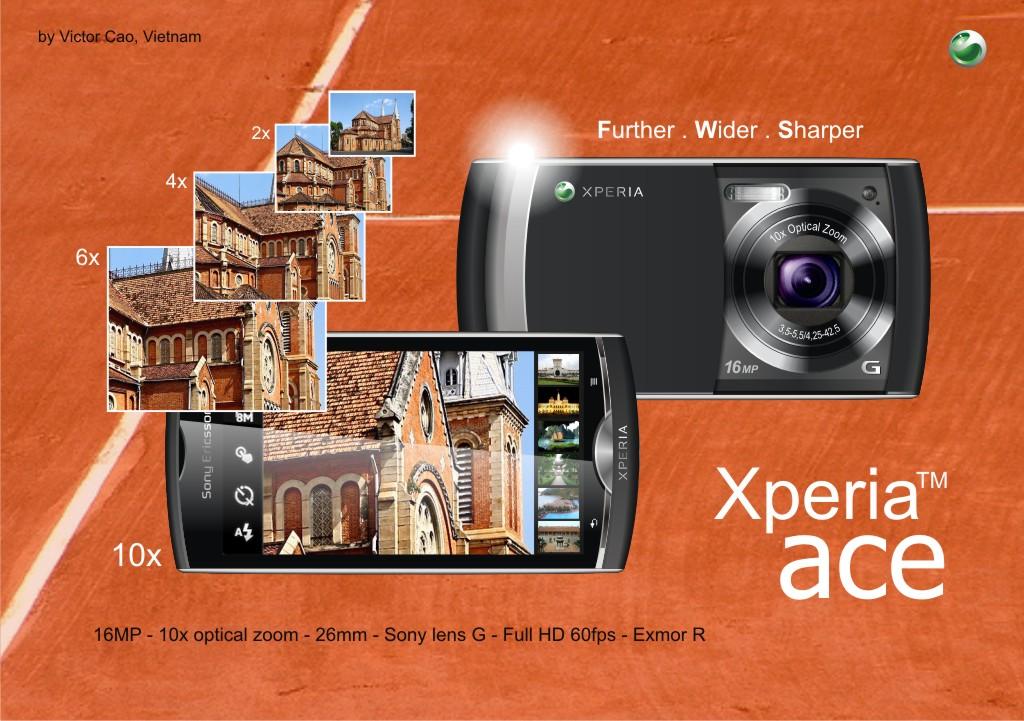 Xperia Ace   Sony Ericsson Super Zoom Smartphone Concept