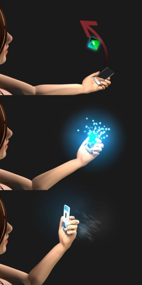 3D Projection Pendant Works With Concept Mobile Phone Bertha
