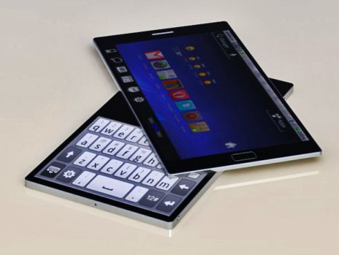 Rotating Dual Touchscreen Phone Easily Becomes a Console, a Mini Netbook