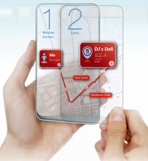 Transparent Dual Display Phone Comes With Augmented Reality Features and More