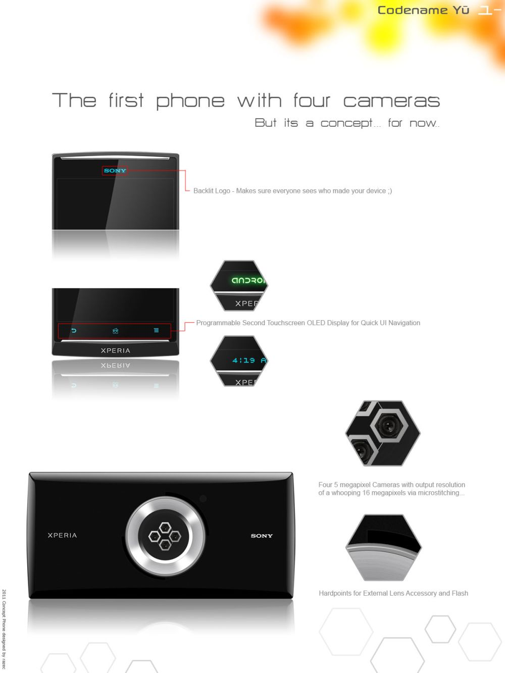 Sony Xperia Yu Features 4 Cameras With 5MP resolution
