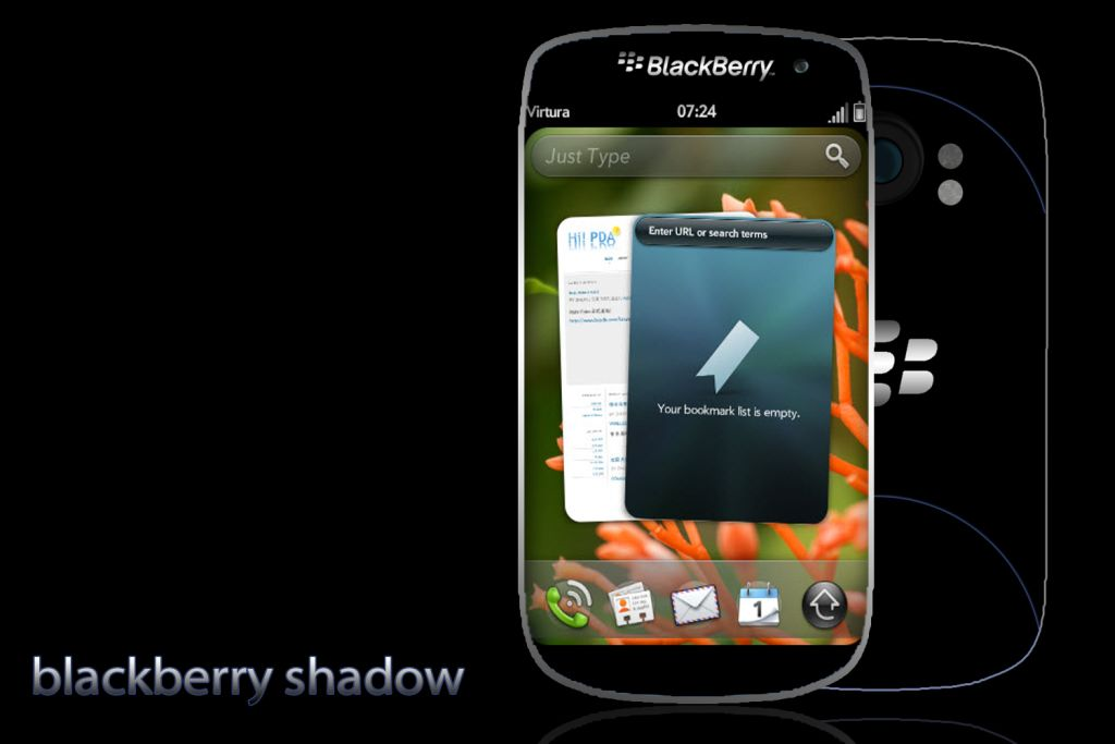 BlackBerry Shadow Concept Runs WebOS on Top of Dual Core ARM15 CPU