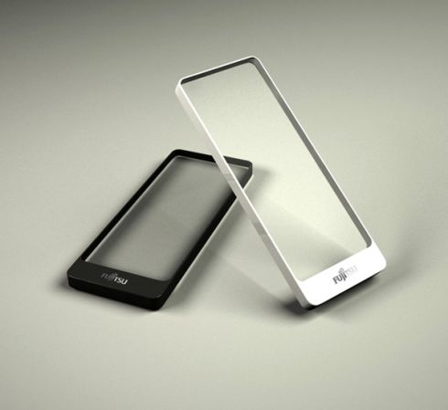 Fujitsu Brick Smartphone Concept Uses Transparent Display, Says its a PC