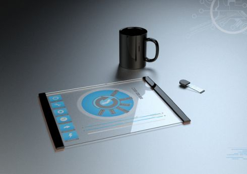 Transparent Futuristic Tablet Concept, Created by Thomas Laenner