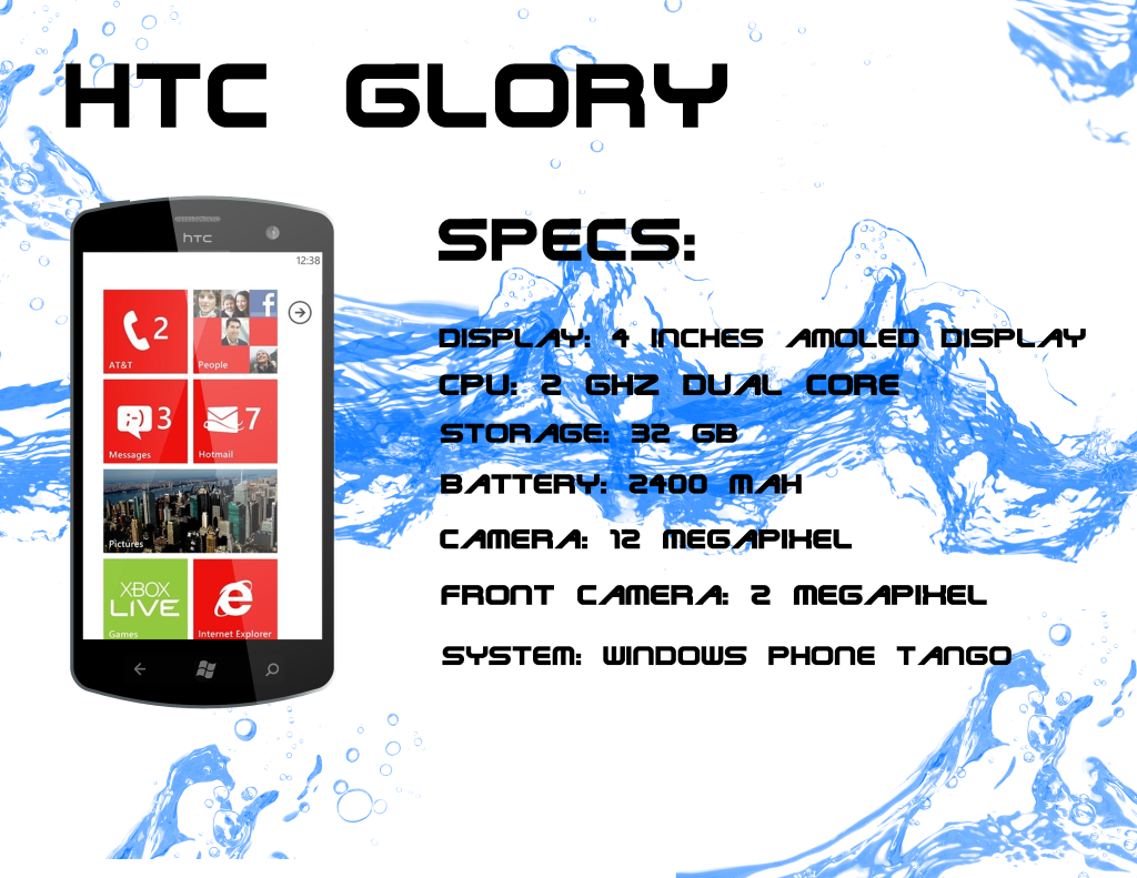 HTC Glory Windows Phone Concept Sports a 2GHz Dual Core CPU