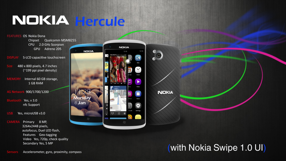 Nokia Hercule, the First Nokia Donna/Symbian Donna Device