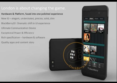 BlackBerry 10 Phone London Mockup Appears... Officially?