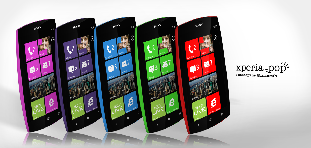 Xperia Pop Concept Runs Windows Phone, Has Plastic Shell Case