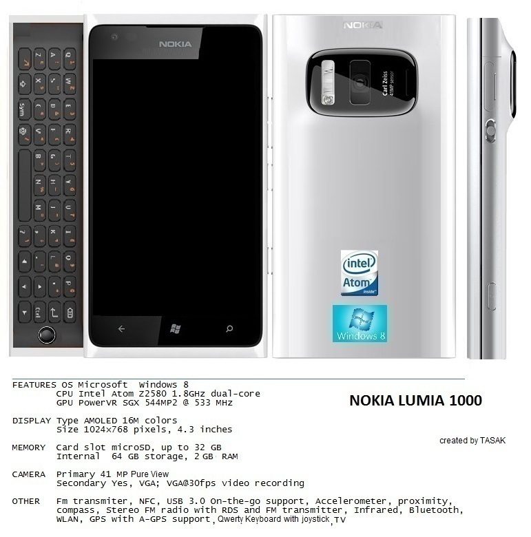 Nokia Lumia 1000 Features Pureview Camera, N950 Design