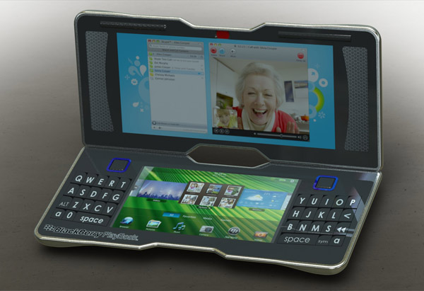 BlackBerry PlayBook 3.0 Concept Tablet is a Clamshell with Keyboard