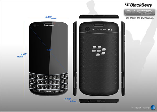 BlackBerry TK Victory Render Has a Nano SIM Slot, Quad Core Processor