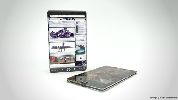 Glass Smartphone and Tablet Are Edge to Edge Devices, Totally Transparent