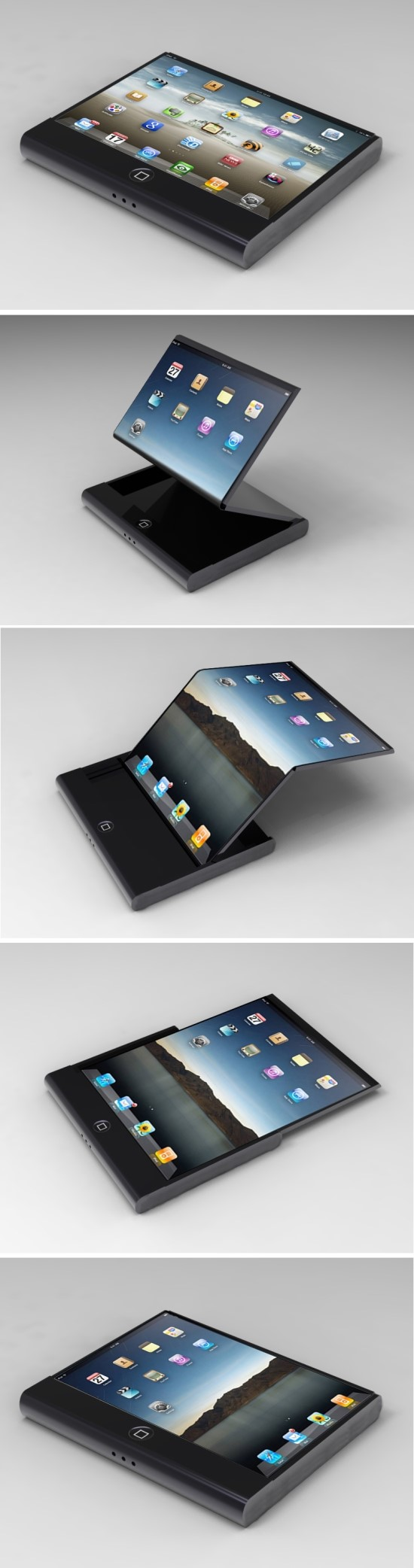 Seamless Flexible Display iPhone Concepts: Ace and Jocker
