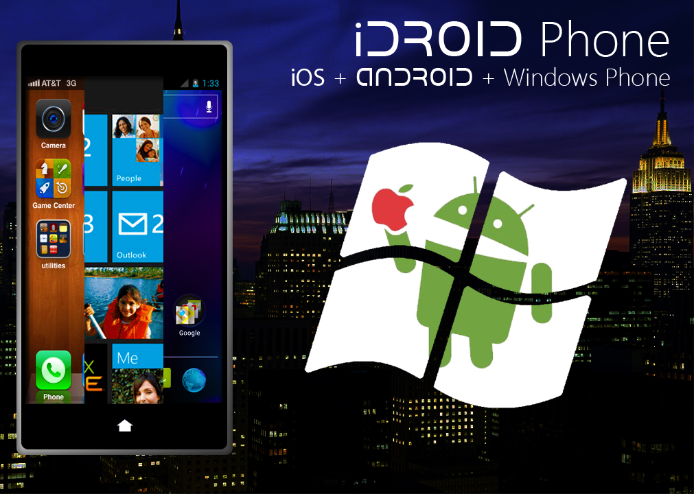 iDroid Phone, a Triple Boot Device with iOS, Android and Windows Phone