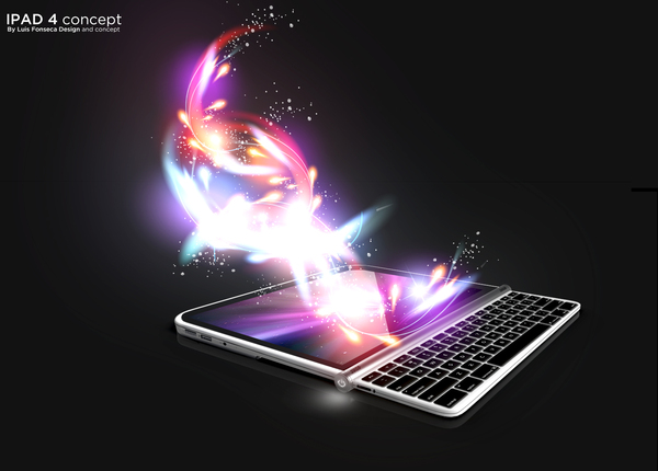 Apple iPad 4 Concept, Created by Luis Fonseca