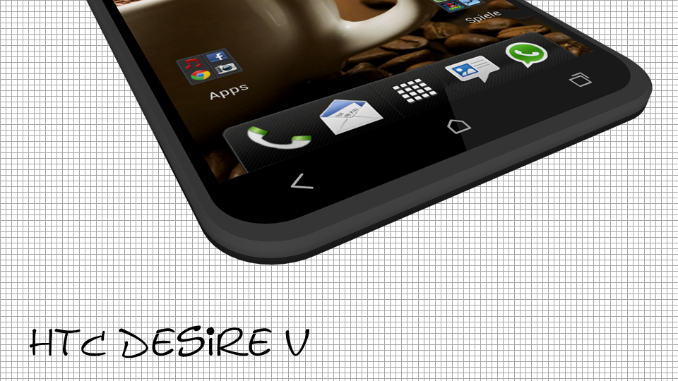 HTC Desire V Concept, Cheap Smartphone for HTC Fans