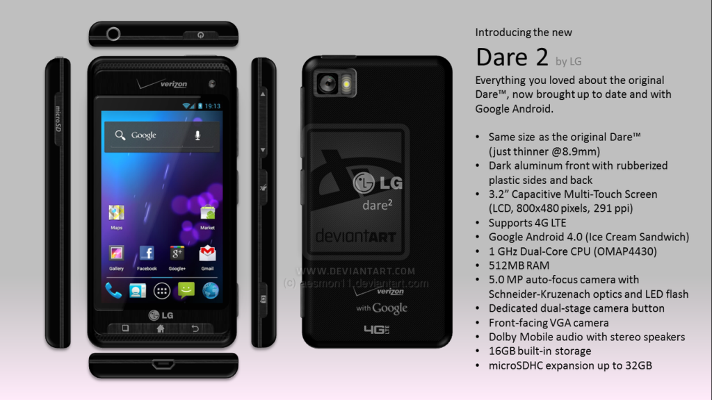 LG Dare 2 Shows Its Pretty Face, With and Without Sliding Keyboard