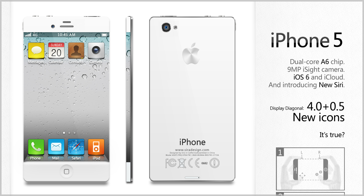 iPhone 5 Dual Core Edge to Edge Design Looks Hot